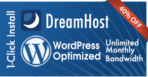 $90 Discount on Wordpress-Optimized Web Hosting with DreamHost