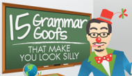 Fifteen [Hideous] Grammar Goofs That Make You Look [Very] Silly – Infographic