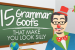 Fifteen [Hideous] Grammar Goofs That Make You Look [Very] Silly - Infographic